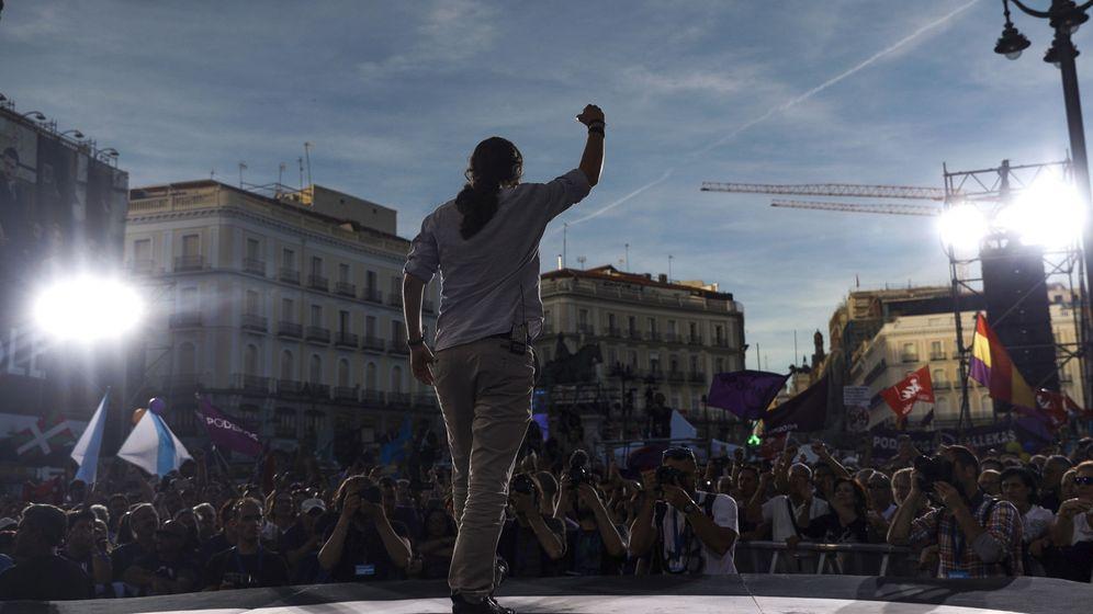 Foto: El líder de Podemos, Pablo Iglesias, durante una concentración en Madrid. (EFE)