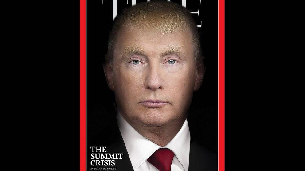 Donald Trump y Vladimir Putin se fusionan en la portada de la revista Time