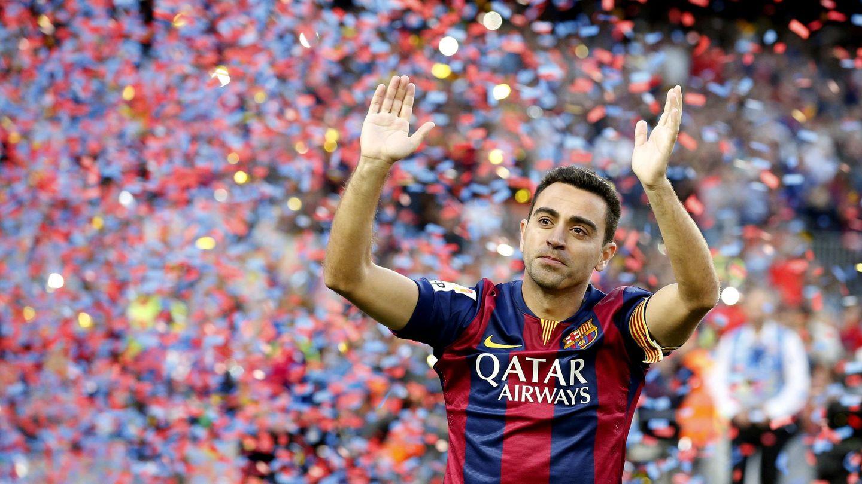 Xavi Hernández, en su despedida del Barça. (Reuters)