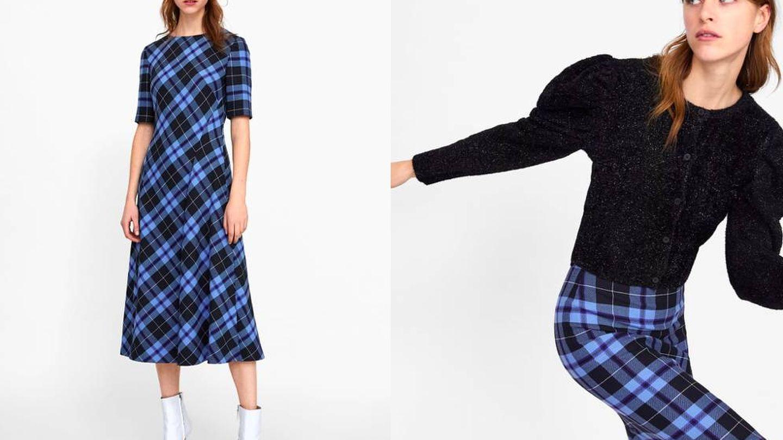 Nos encantan las nuevas propuestas tartán de Zara (Cortesía)