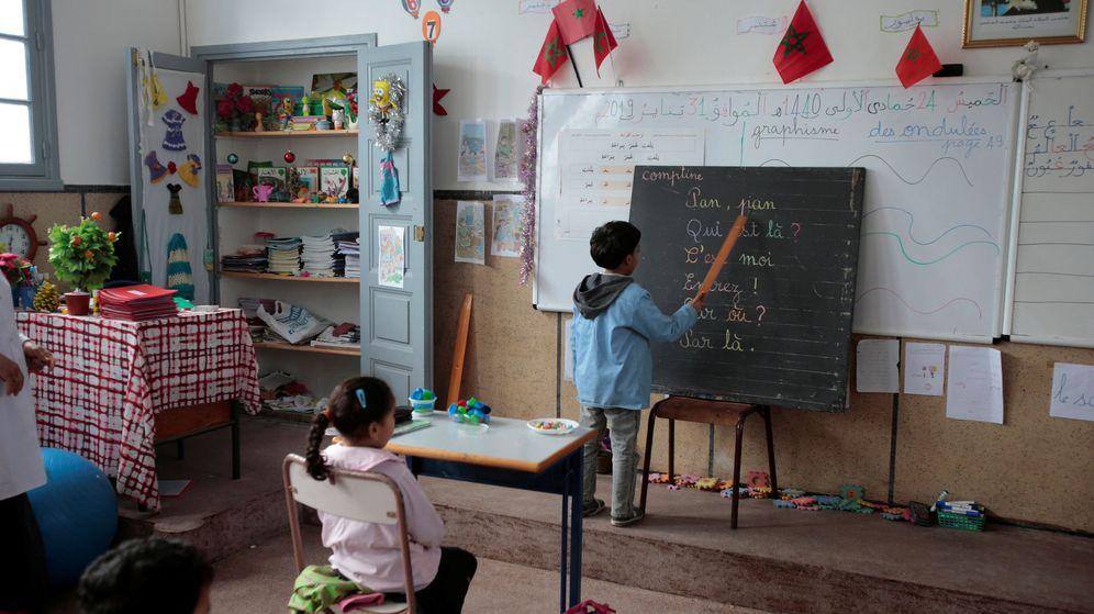 Foto: Estudiantes en una escuela en Marruecos. (Reuters)