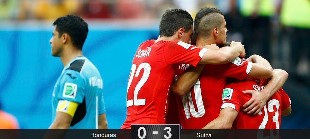 Foto: Un 'hat-trick' de Shaqiri pone a Suiza en octavos donde se medirá a Argentina