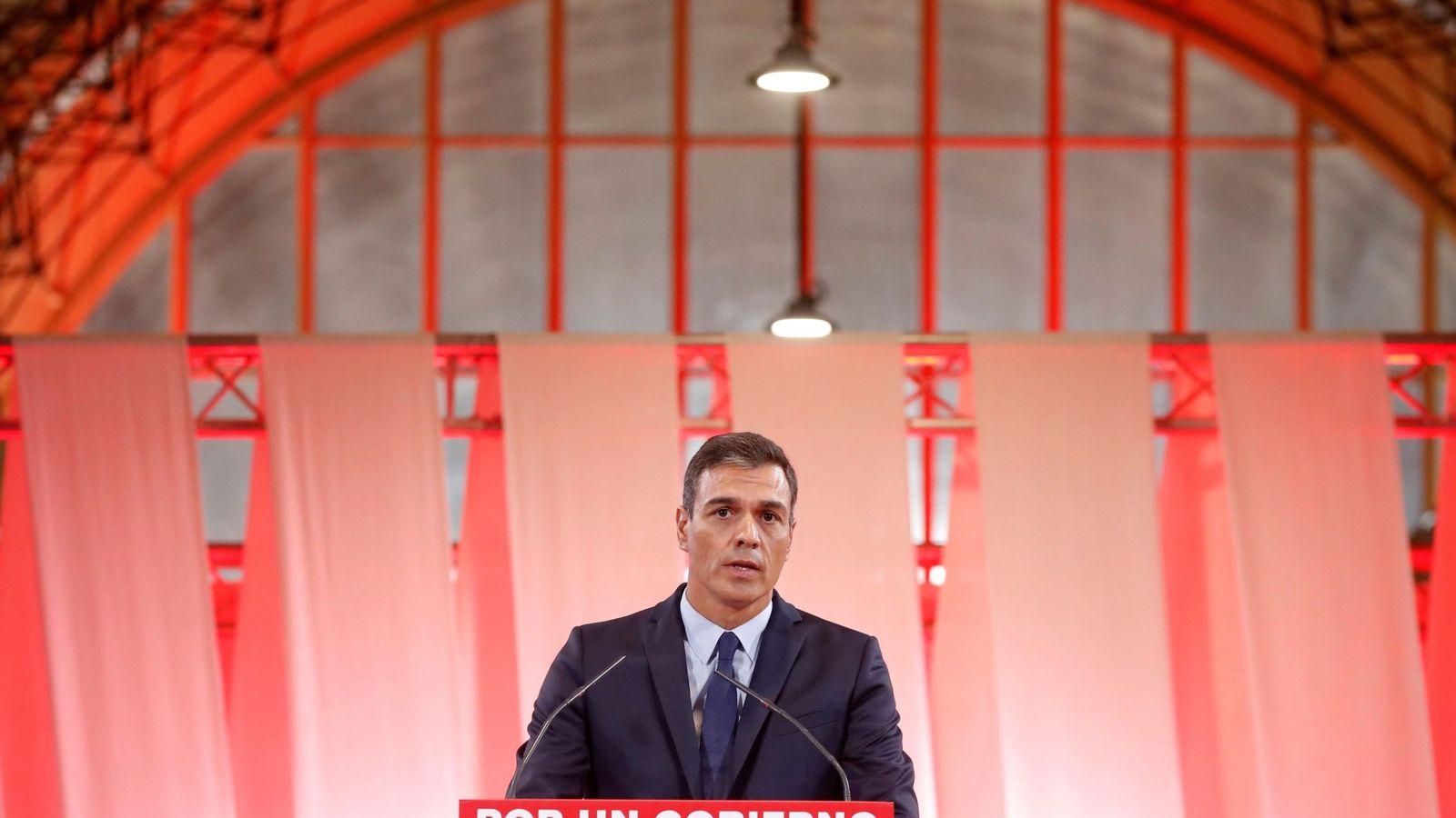Foto: Pedro Sánchez presenta el acuerdo programático con el que espera granjearse el apoyo de Unidas Podemos. (EFE)