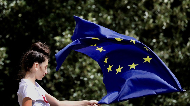 Manifestantes proeuropeos en Londres. (Reuters)