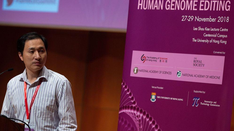 Foto: Científico chino defiende efectividad de su estudio de modificación genética (EFE)