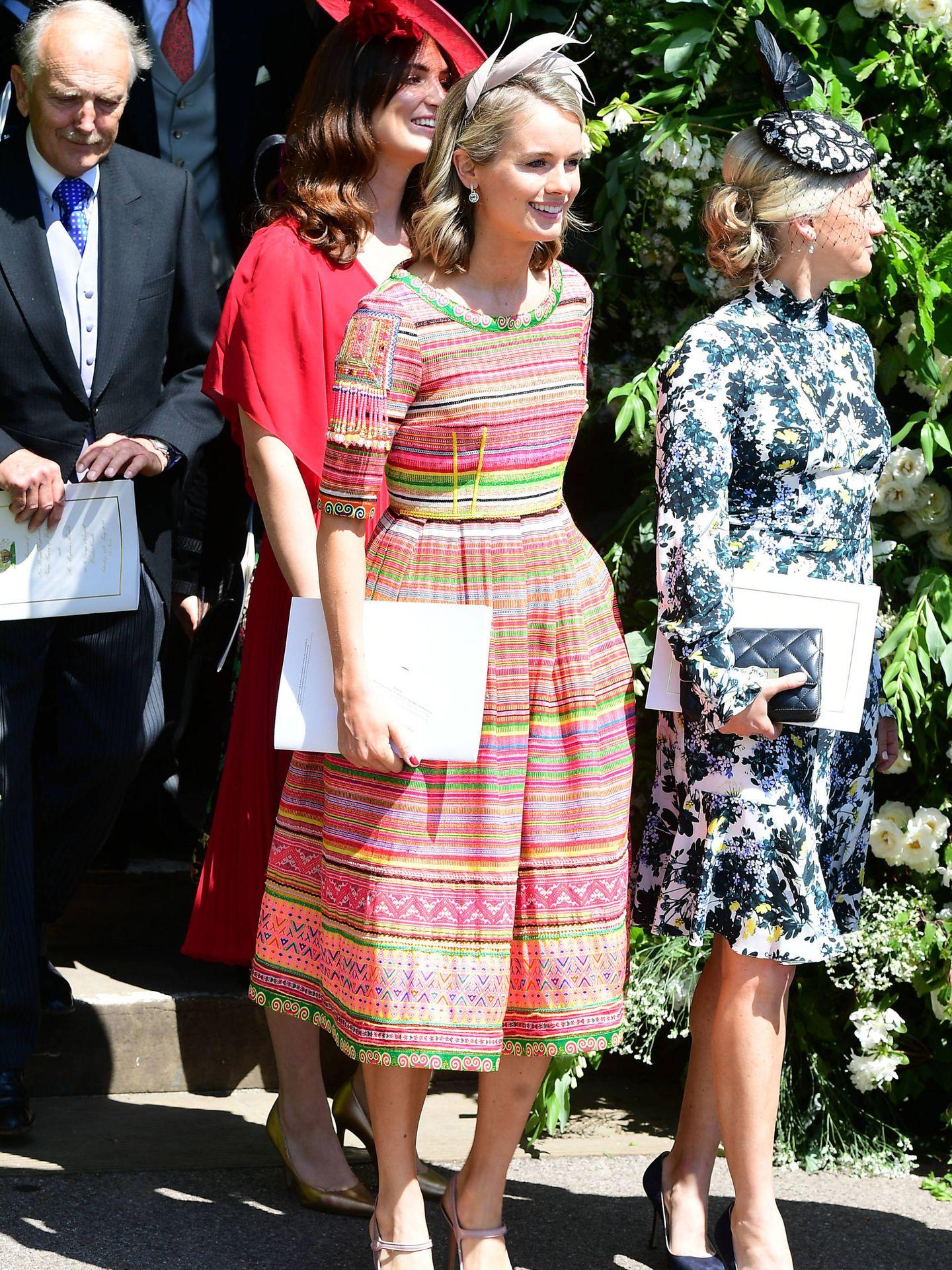 Cressida Bonas, en la boda del príncipe Harry. (Getty)