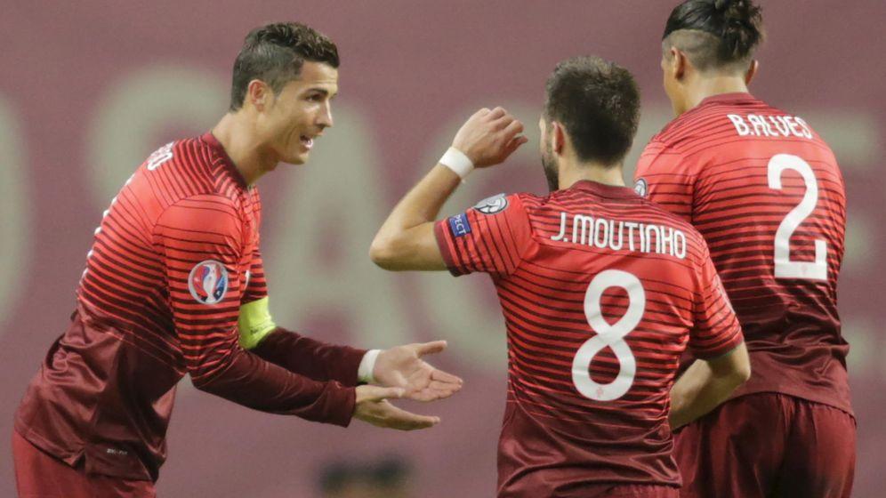 Foto: Cristiano, en el partido ante Dinamarca (Reuters).