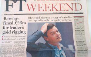 El 'Financial Times' refuta la tesis económica de Piketty