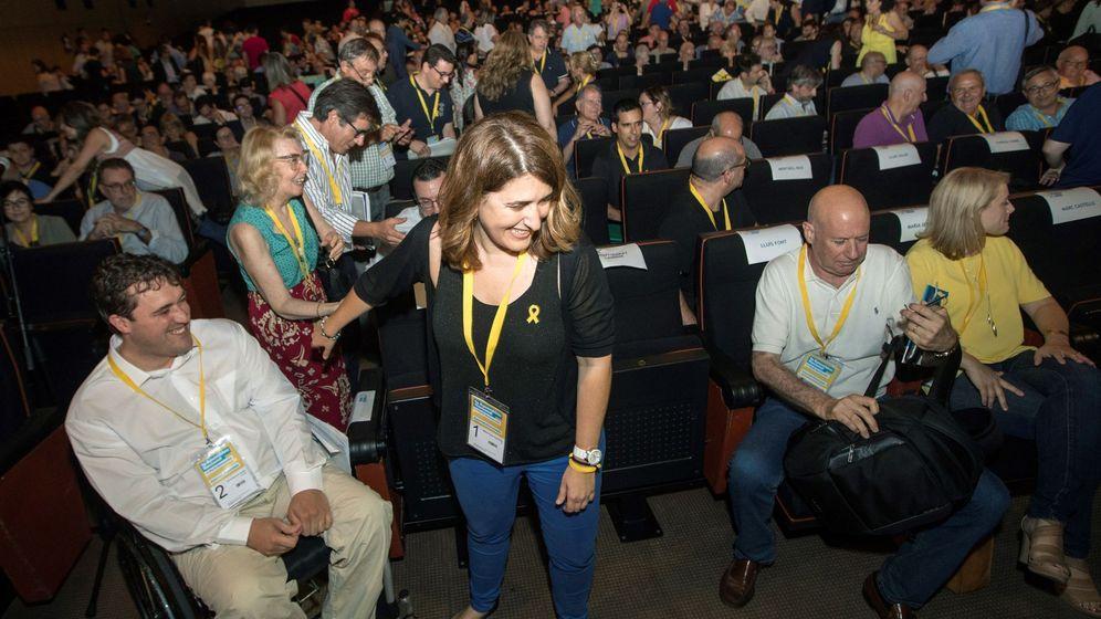 Foto: Marta Pascal, momentos antes del inicio de la Asamblea Nacional del PDeCAT. (EFE)