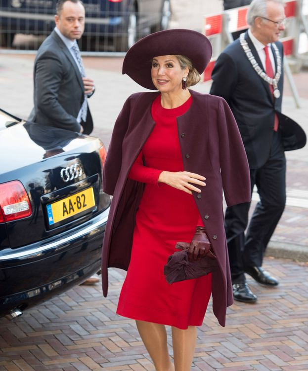 Foto: Máxima con su vestido de Dolce & Gabbana. (Gtres)