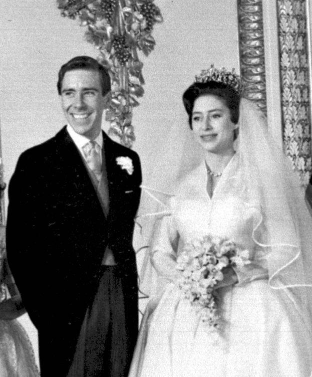 Foto: Margarita y Anthony Armstrong-Jones el día de su boda (CP)
