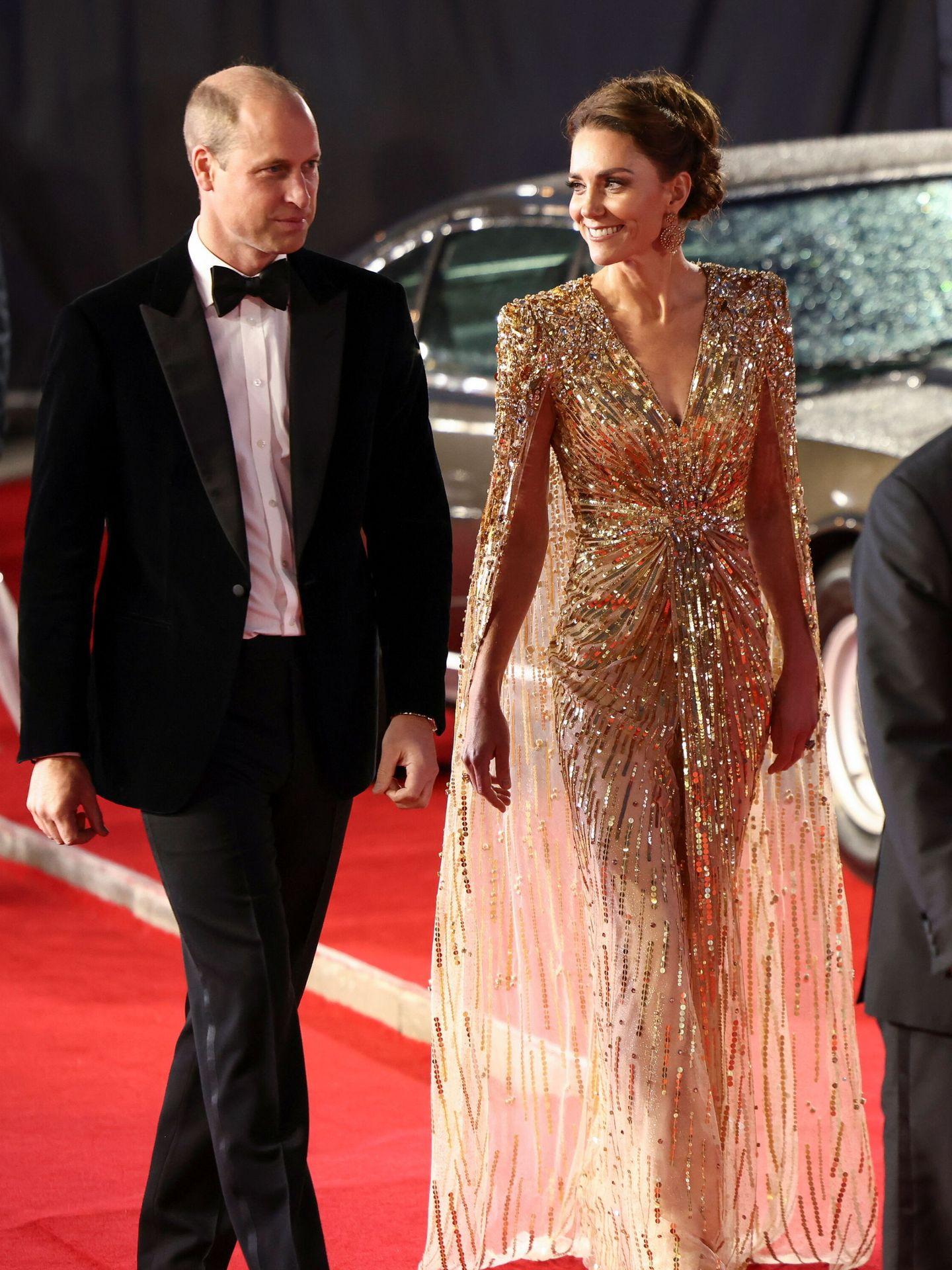 Los duques de Cambridge, durante el estreno. (Reuters)