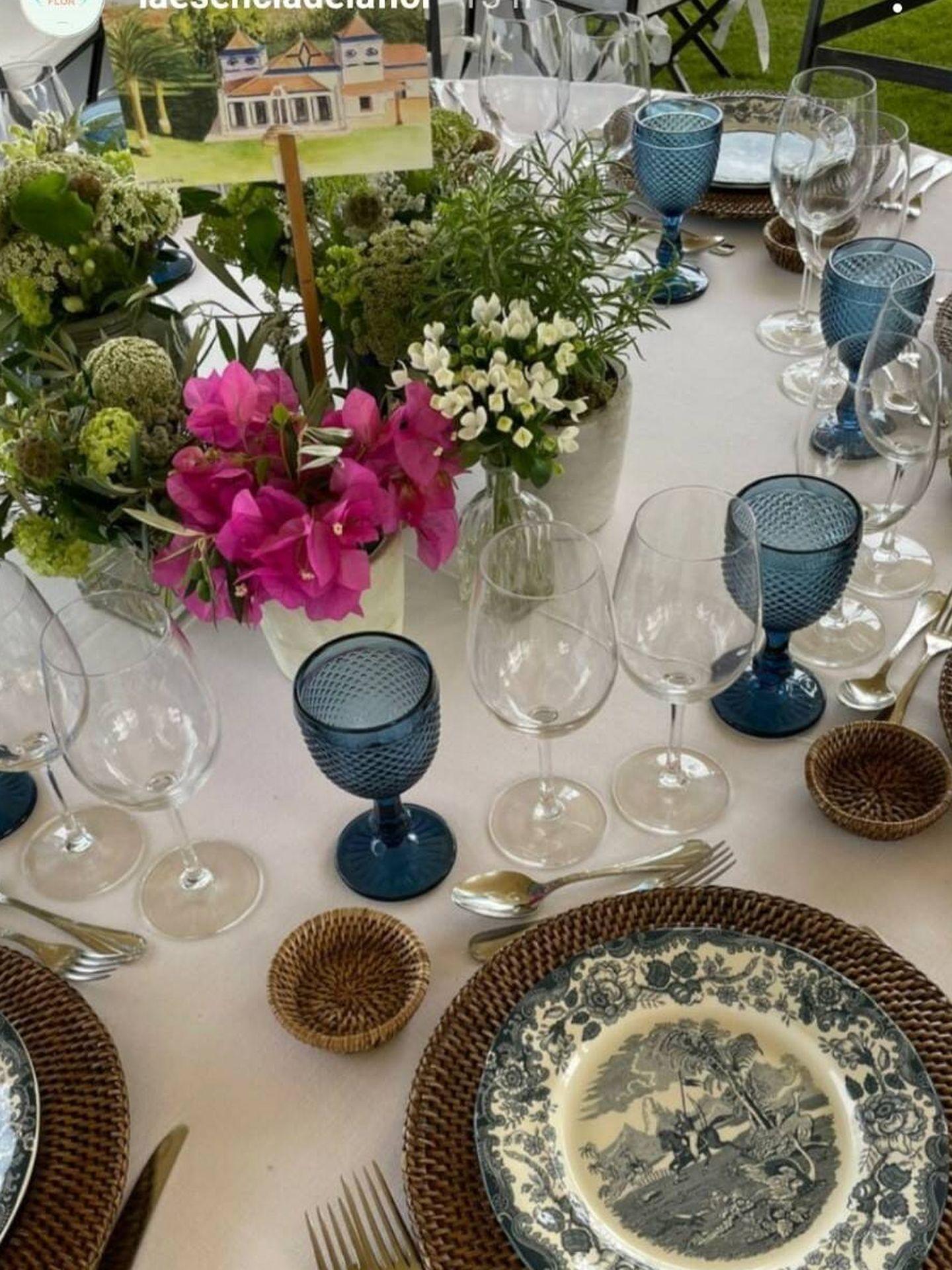 La decoración de las mesas de la boda de Ymelda Bilbao y Borja Mesa-Jareño. (Redes sociales)
