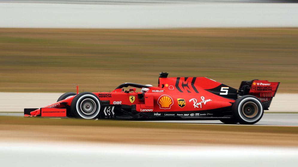 Foto: Sebastian Vettel y los nombres de sus monoplazas en la Fórmula 1