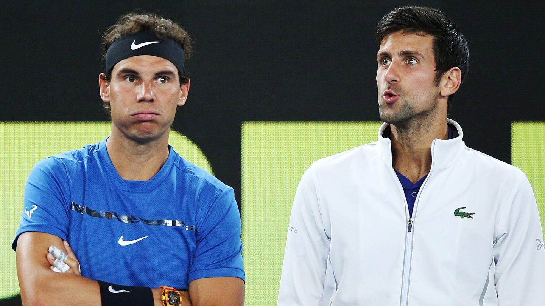 Nadal y Djokovic. (Getty)