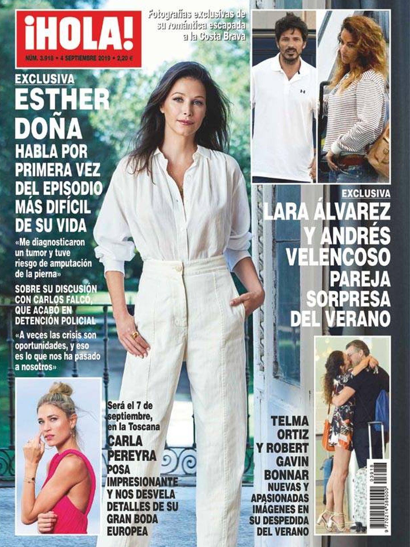 Telma y su nueva pareja, en la portada de '¡Hola!'.