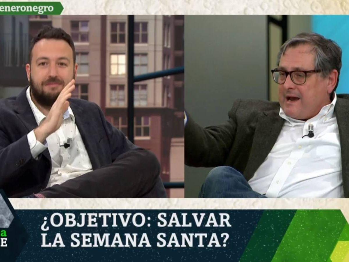Foto: Juan Luis Sánchez y Francisco Marhuenda. (La Sexta).
