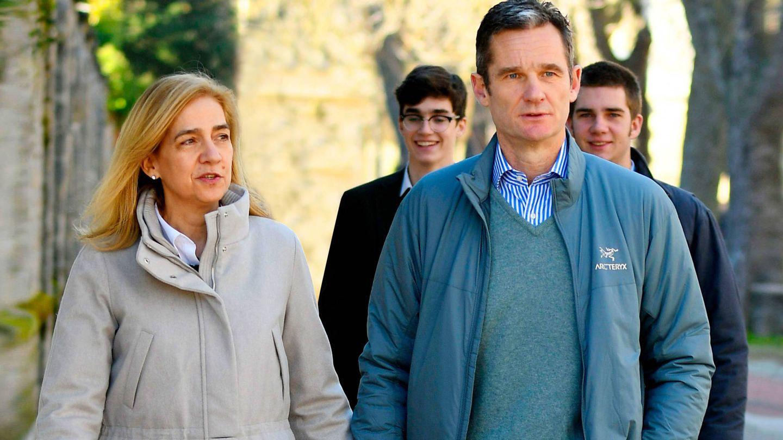 La infanta Cristina e Iñaki Urdangarin, en Vitoria. (Getty)