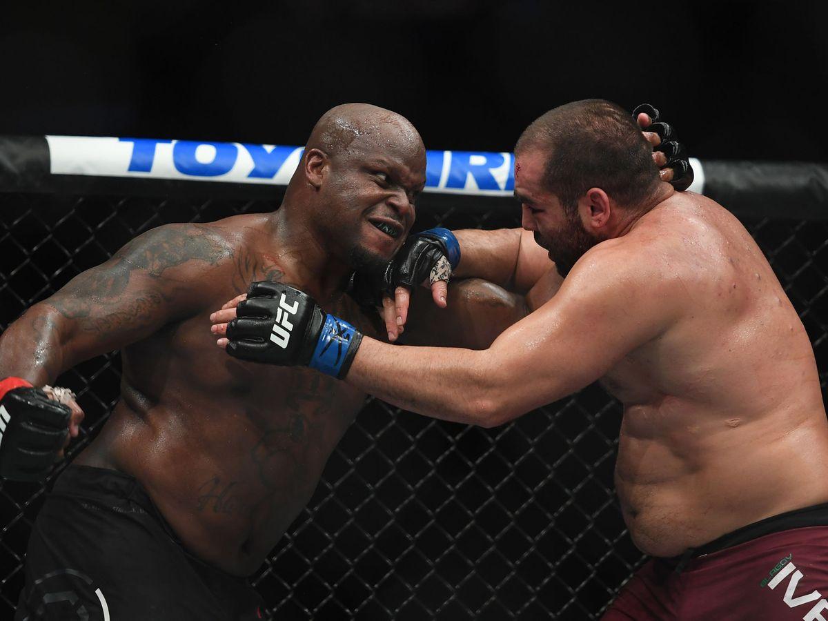Foto: Derrick Lewis, en un combate anterior. (USA TODAY Sports)