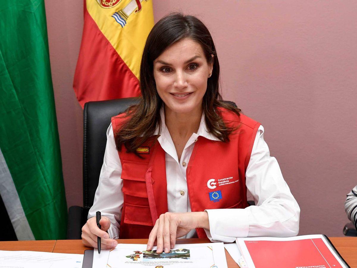 Foto: Letizia, durante el último viaje de cooperación a Mozambique. (Getty)