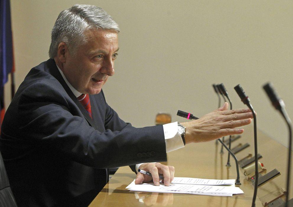 Foto: José Blanco durante la rueda de prensa de ayer (Efe)