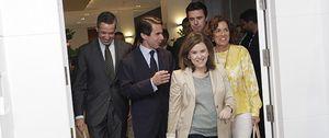Aznar pone fin a la guerra en el PP en presencia de la vicepresidenta