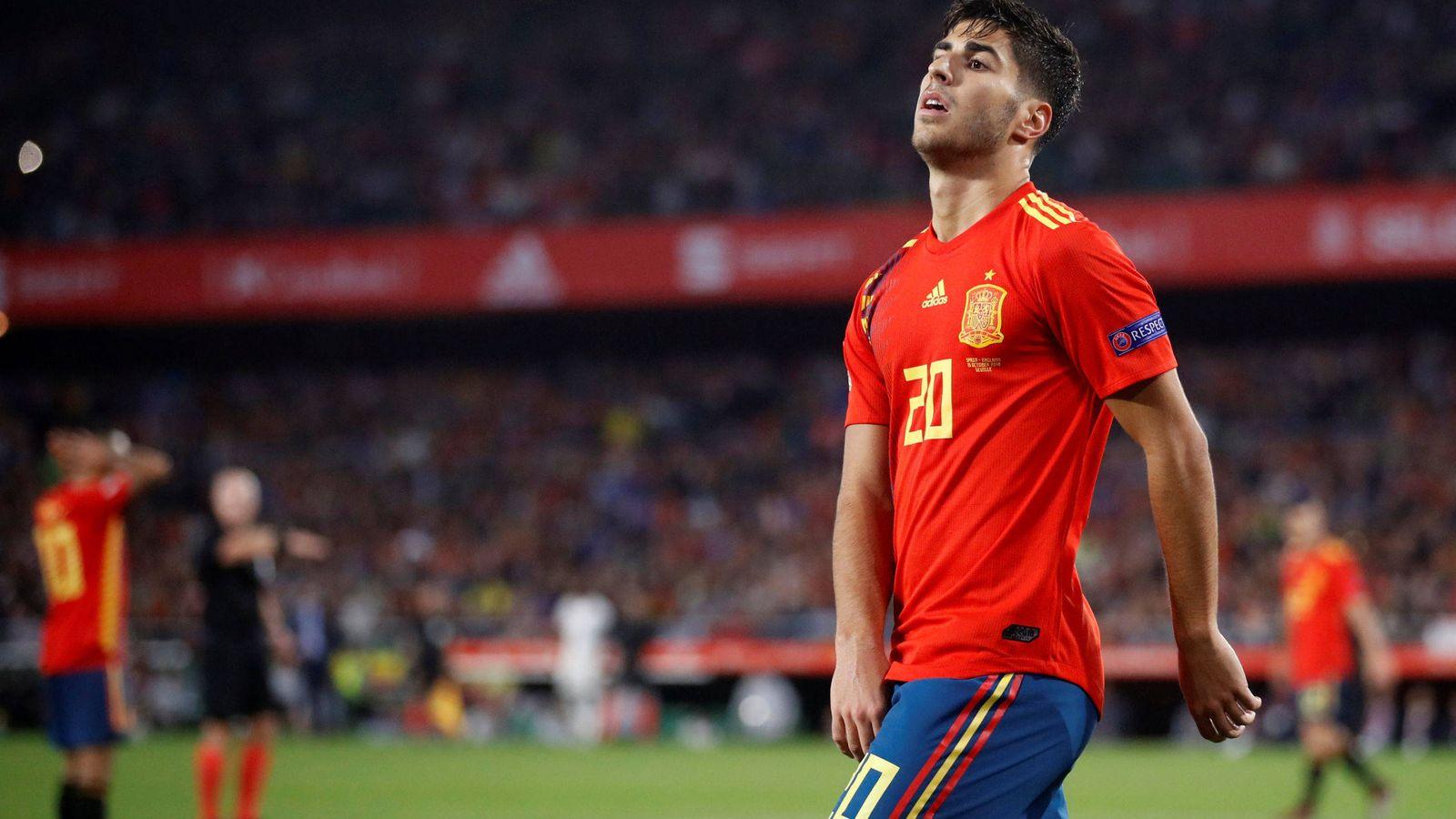 Foto: Asensio con la camiseta de la Selección. (Reuters)