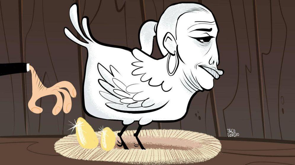 Foto: Belén Esteban, en una ilustración de Paco Sordo.