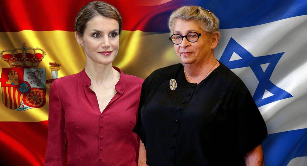 Foto: Letizia y la primera dama de Israel en un montaje de Vanitatis.