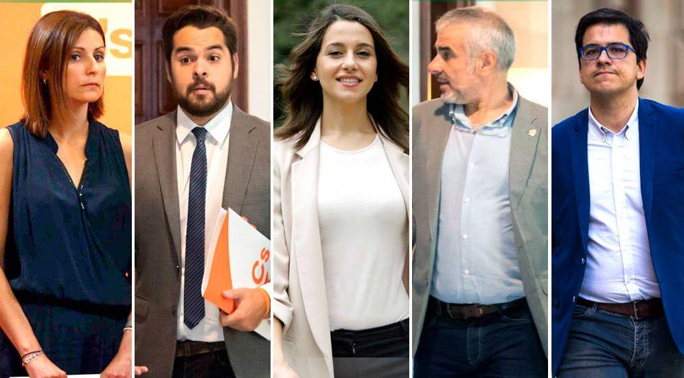 Foto: De izquierda a derecha, Lorena Roldán, Fernando de Páramo, Inés Arrimadas, Carlos Carrizosa y José María Espejo. (EC)