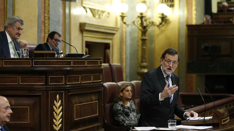Foto: El presidente del Gobierno, Mariano Rajoy, en su réplica a la intervención del líder del PSOE, Pedro Sánchez. (EFE)