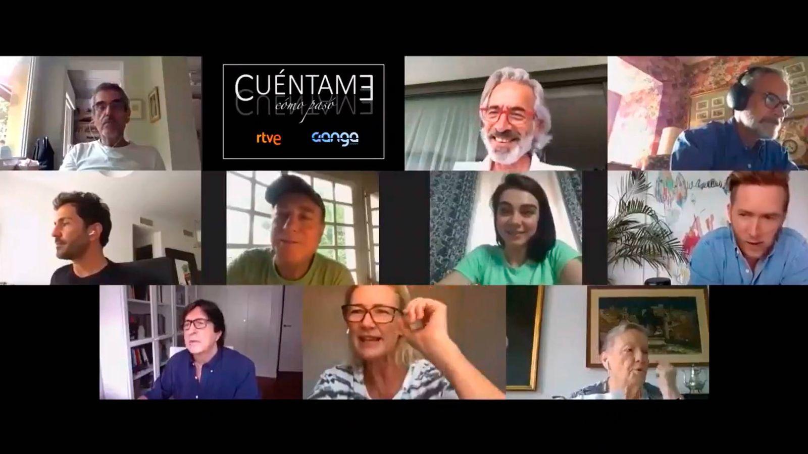 Foto: Los actores de Cuentame como paso tuvieron que leer el primer guion de la nueva temporada por videollamada (Foto: Twitter)