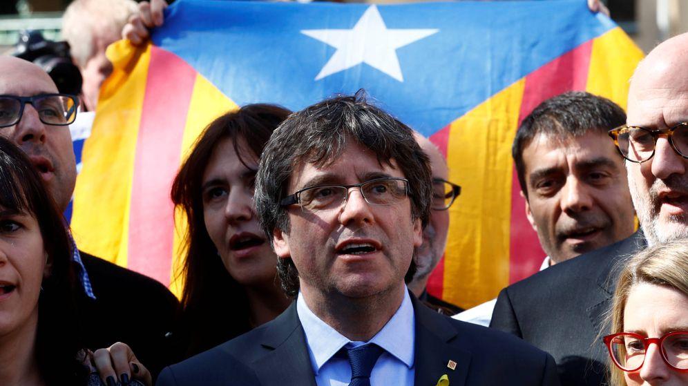 Foto: El 'expresident' Carles Puigdemont durante una comparecencia de prensa en Berlín, el 7 de abril de 2018. (Reuters)