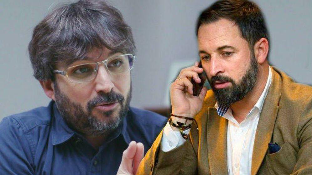 Foto: Jordi Évole y Santiago Abascal. (El Confidencial).