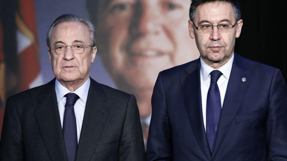 Foto: Florentino Pérez junto a Josep María Bartomeu. (EFE)