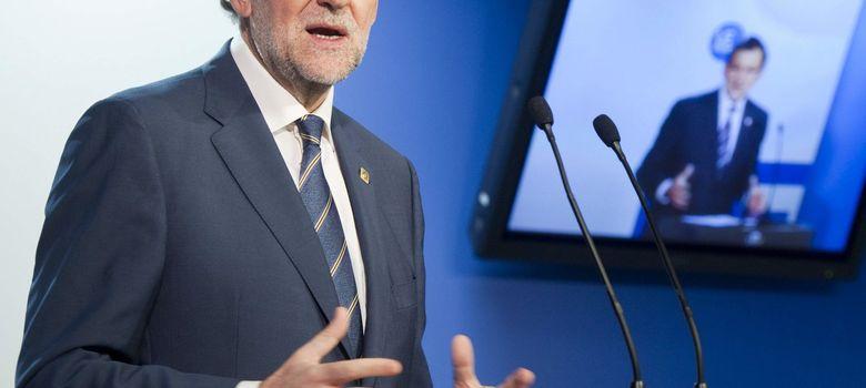 Foto: Mariano Rajoy, en la rueda de prensa posterior al Consejo Europeo (EFE)