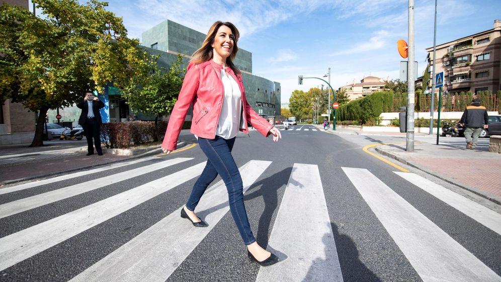 Foto: Susana Díaz este viernes en Granada. (EFE)