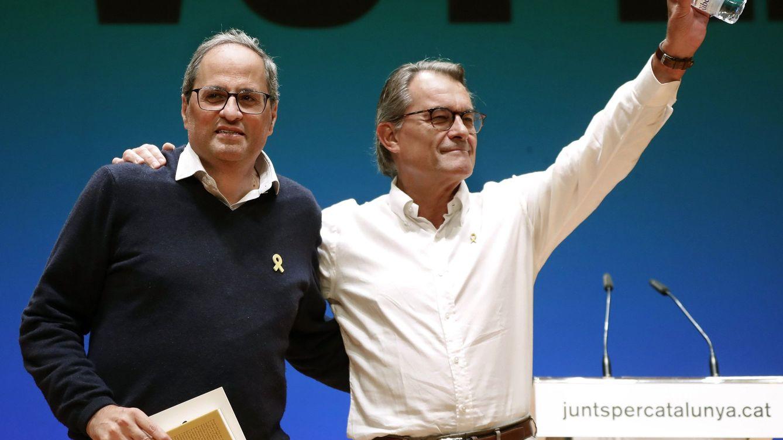 Mas, Torra y Puigdemont: los tres tenores del independentismo contraprograman al Rey