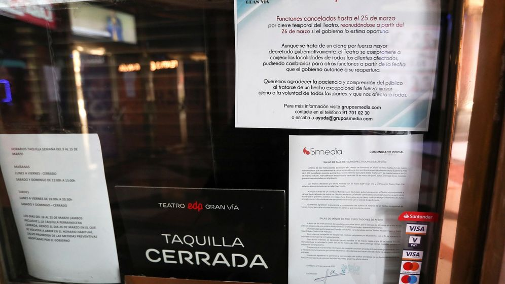 Foto: Teatros cerrados en Madrid por el coronavirus