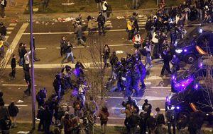 Heridos y detenidos en los salvajes choques en Madrid