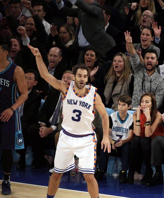 Foto: Calderón fue básico en la victoria de los Knicks (Efe).