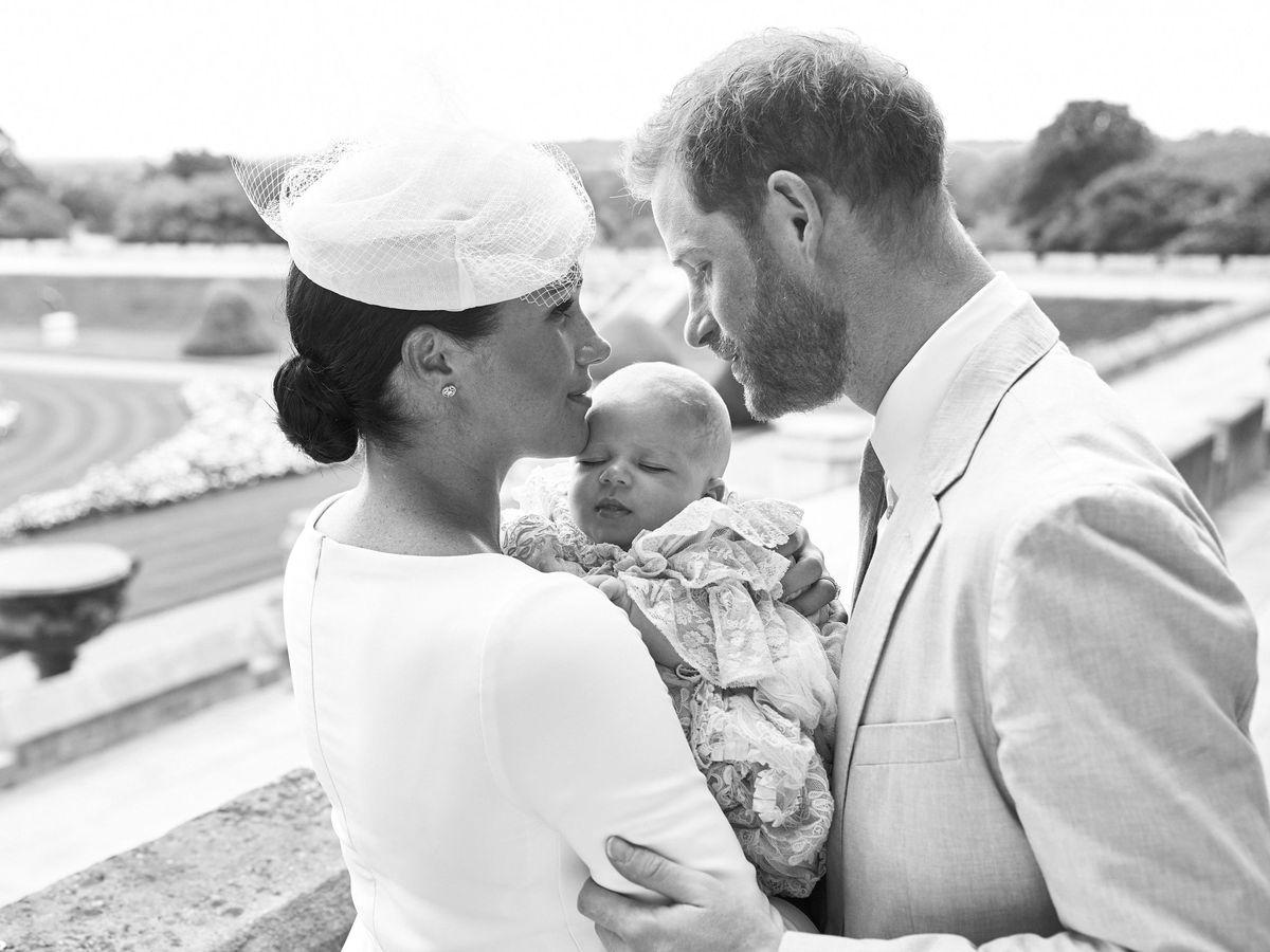 Foto: Los duques de Sussex, con Archie. (EFE)