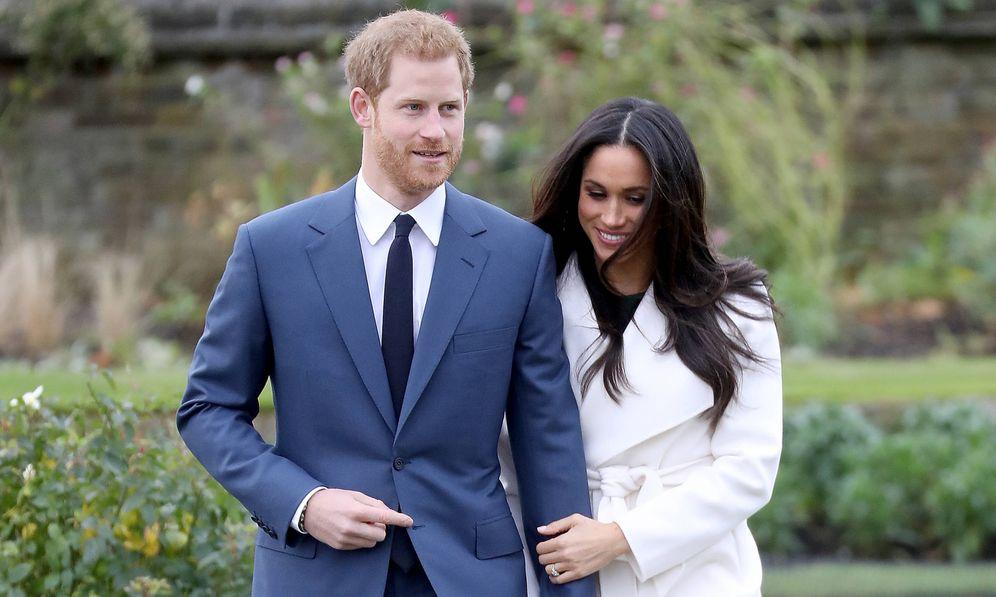 Foto: Los duques de Sussex, el día en que se anunció su compromiso. (Getty)