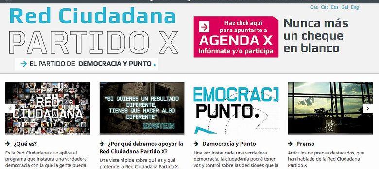 Foto: Web del Partido X