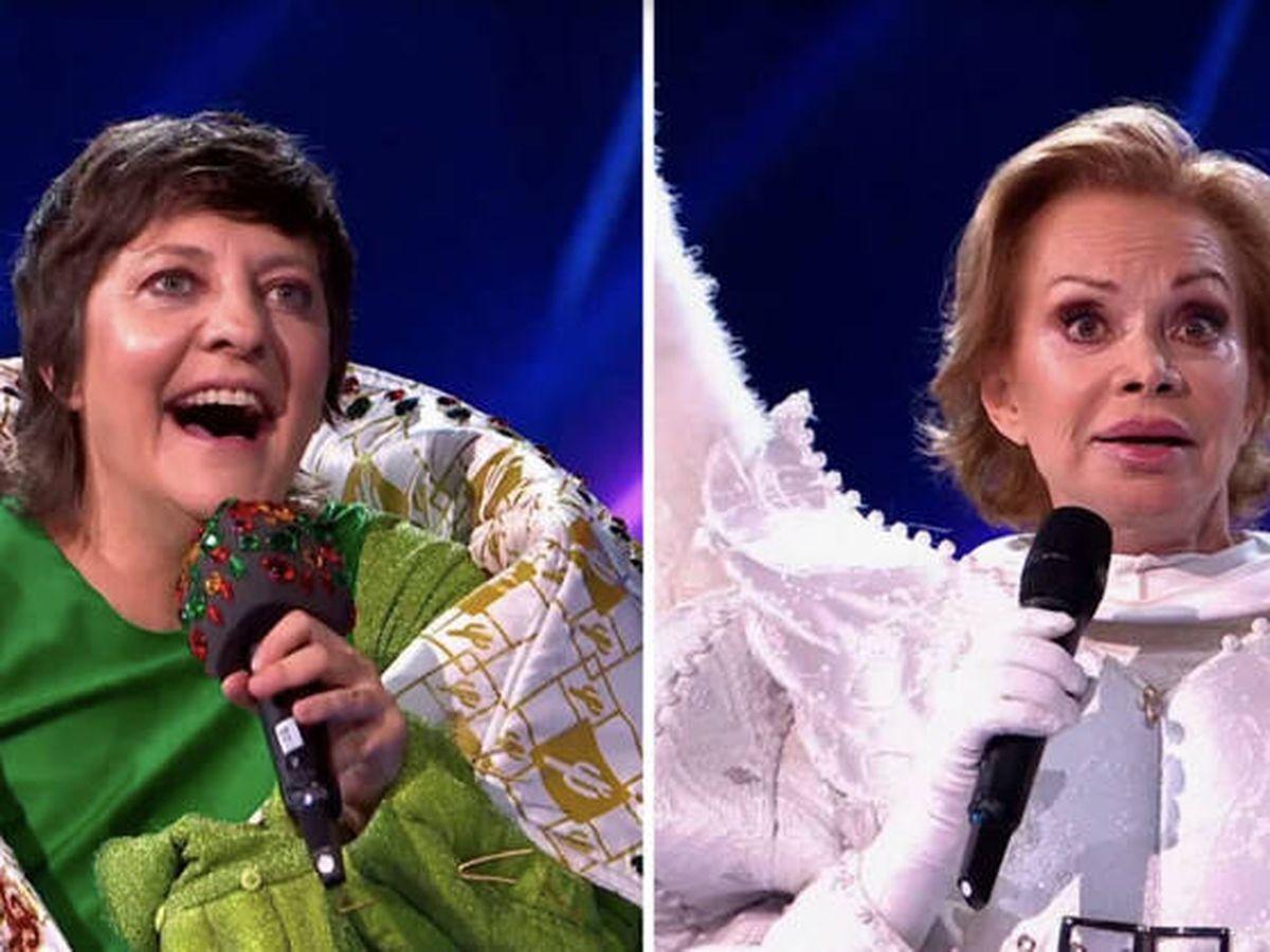 Foto: Eva Hache y Paloma San Basilio, en 'Mask Singer'. (Atresmedia)