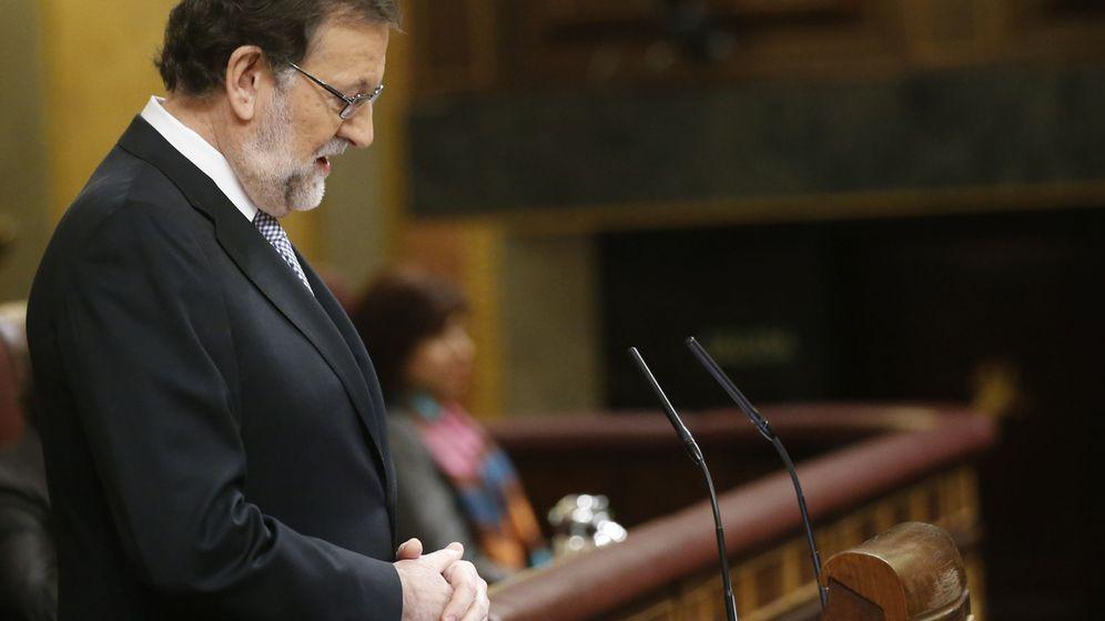 Foto: Mariano Rajoy, en un momento de su discurso. (EFE)