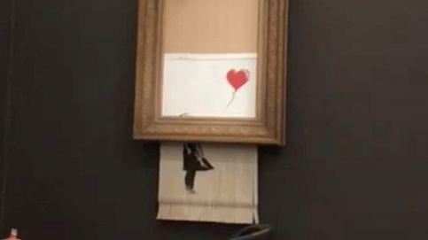 Una famosa obra de Banksy se autodestruye después de ser subastada por 1 M de euros