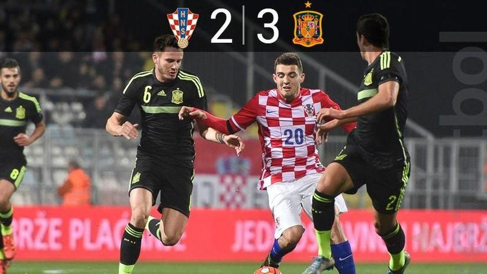 Sufriendo sabe mejor: España, guiada por Deulofeu, quita el liderato a Croacia