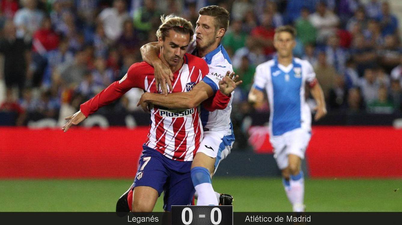 El Atlético se estrella de nuevo en Leganés y Simeone manda un mensaje a Griezmann