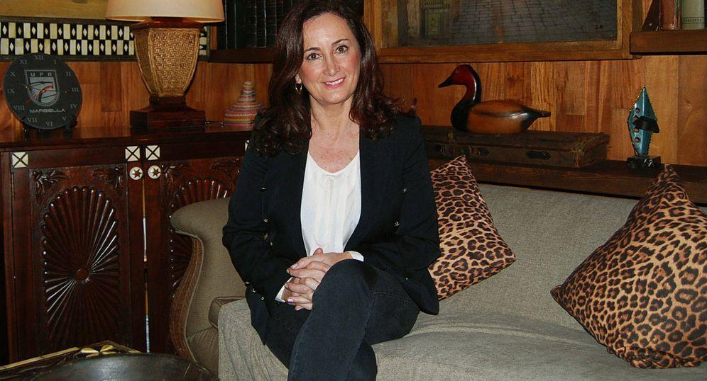 Foto: La escritora Edurne Uriarte, en Marbella. (A.G)